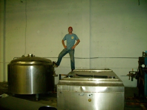 Jeremy on the Brew Kettle