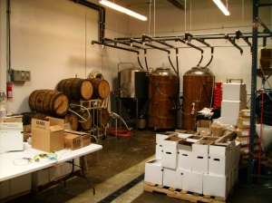 Fermenters at Bootleggers Brewery