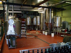 Brewhouse and fermenters at The Bruery