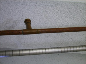 Sparge arm (top) and wort manifold (bottom)