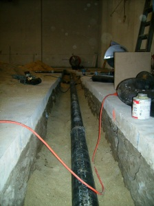 Our new main sewer line